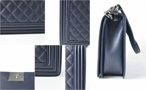 Boy Large Calfskin in Blue A67087 - Glampot