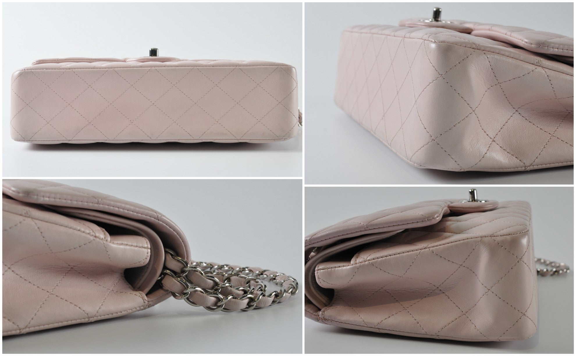 Chanel Medium Pink Lambskin Flap SHW