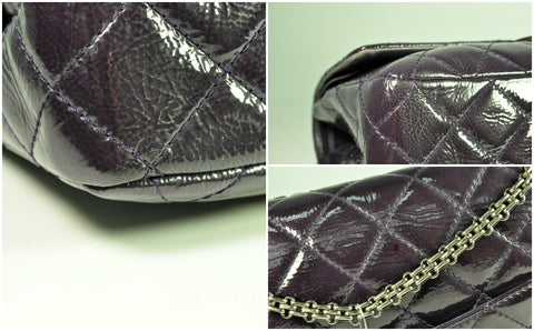 Chanel Reissue 227 in Patent Purple - Glampot