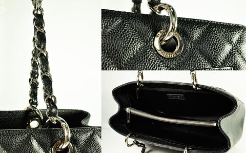 Chanel Grand Shopping Tote Black Caviar SHW - Glampot