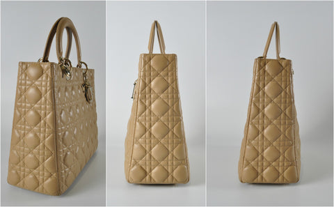 Lady Dior in Large Beige Lambskin