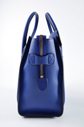 Céline Micro Luggage Tote in Indigo  F-MM-2116 F-C1-1185 - Glampot