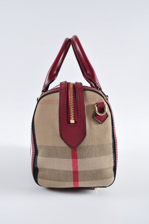 Burberry Red Top Handle Bag