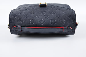 Louis Vuitton M44071 Pochette Metis in Monogram Empreinte in Marine Rouge DU3147