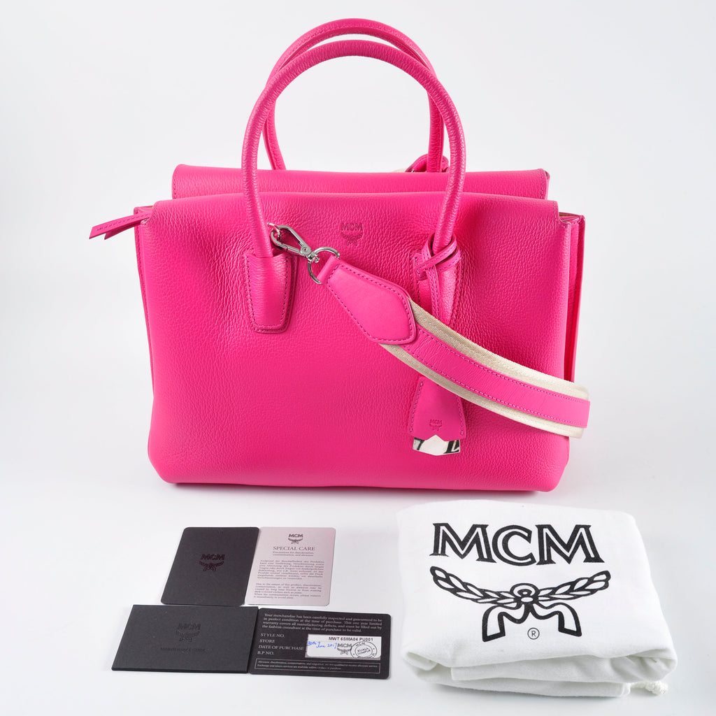 MCM Milla Tote Medium Beetroot Pink