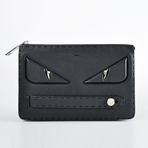 Fendi Monster Clutch in Black