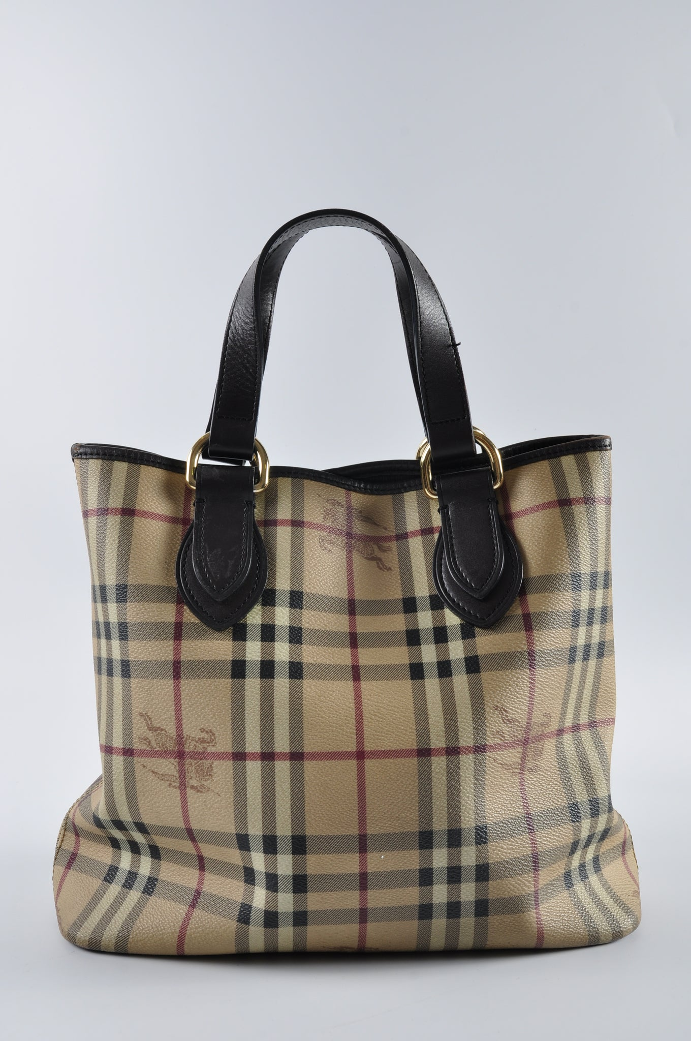 Burberry Haymarket Tote - Glampot