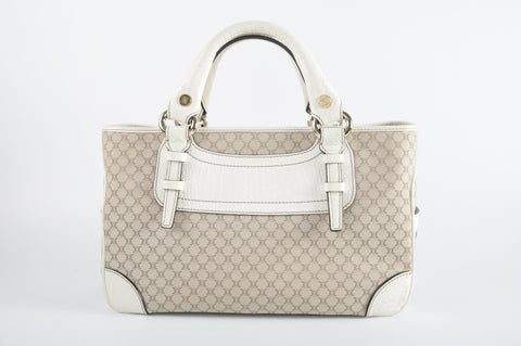 Céline Boogie Bag in White / Monogram Canvas - Glampot