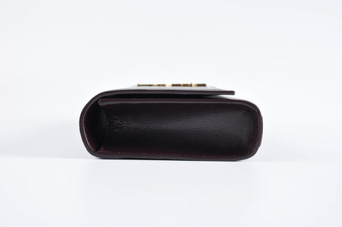 Saint Laurent Brown Monogram Cassandre Clutch