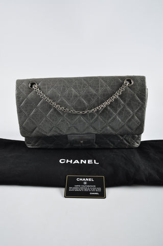 bef3e0076c40 Chanel Limited 50th Anniversary Edition Grey 2.55 Reissue Quilted Classic  Leather 227 Jumbo Flap Bag 10375998