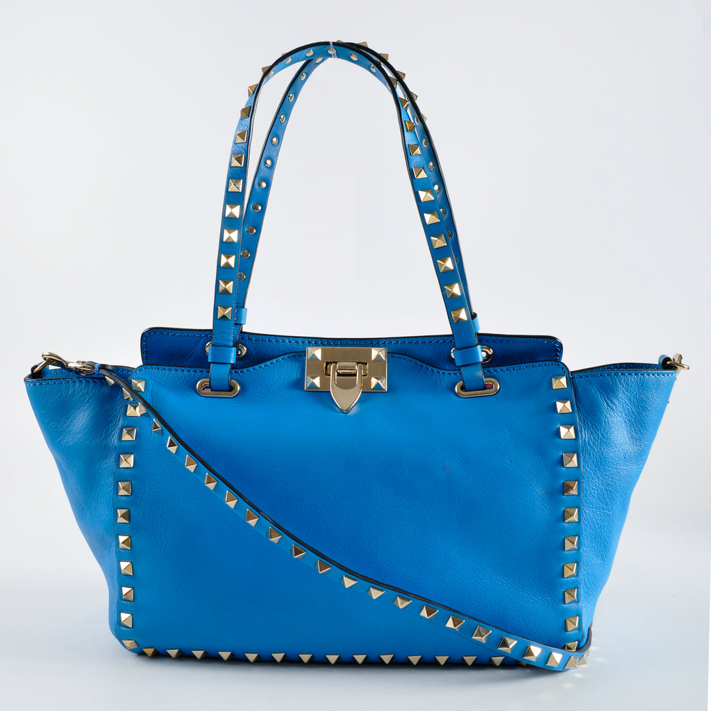 Valentino Rockstud Small Bag in Parrot Blue