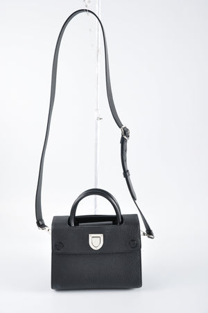 Christian Dior Mini Diorever in Black Bullcalf Leather - Glampot