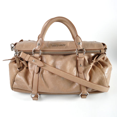 Miu Miu RT0365 Vitello Lux Cammeo Bow Satchel