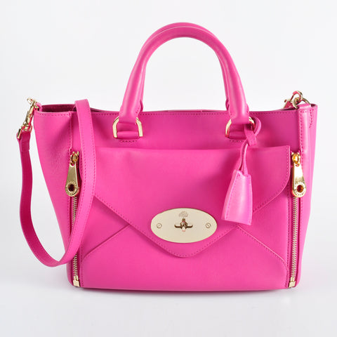 Mulberry Silky Classic Calf Willow Tote 1928622 in Pink