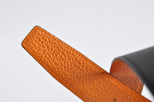 Hermès Belt with buckle 90 32MM Sombrero/Togo Fusain/Potiron