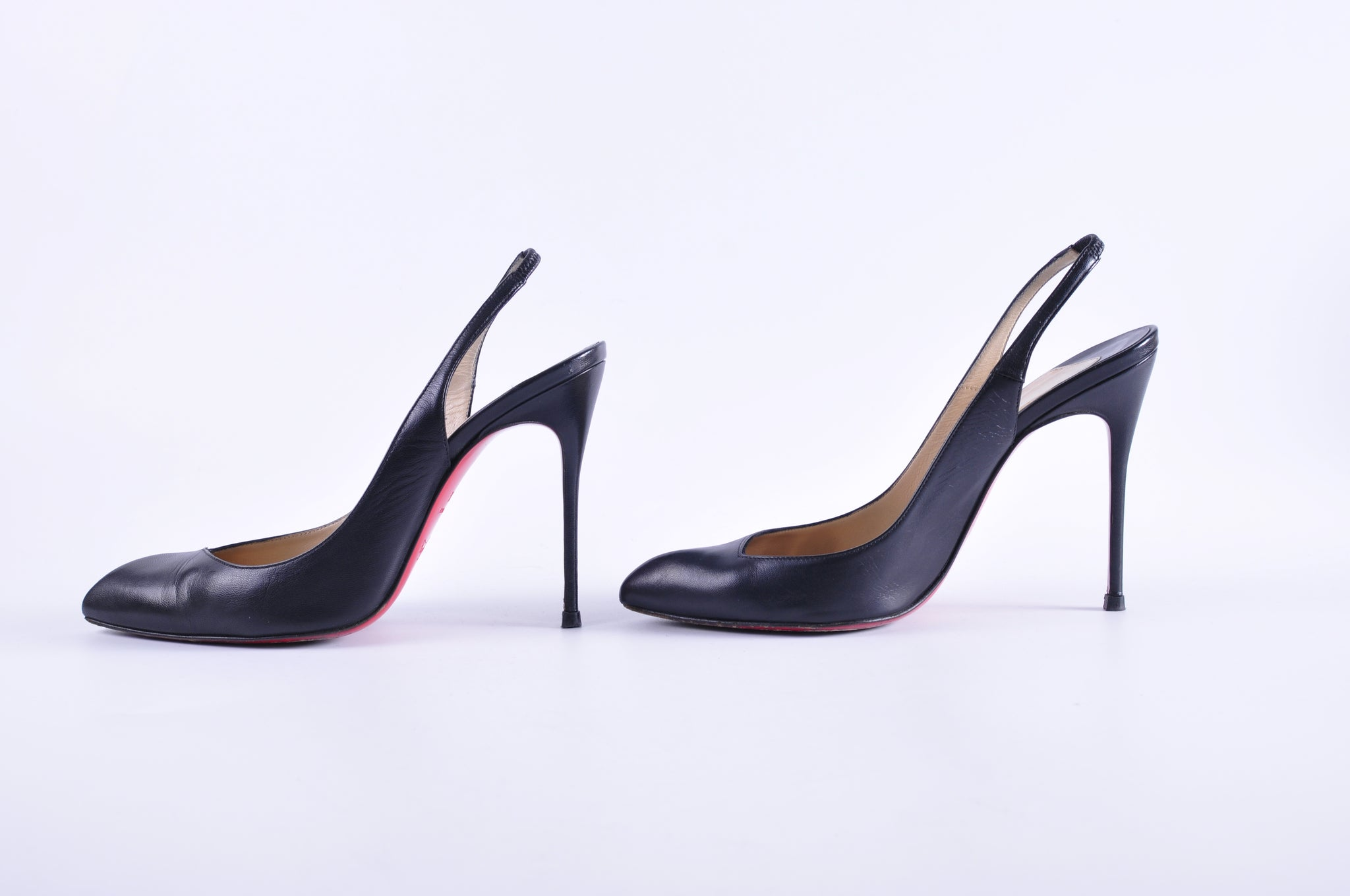 Christian Louboutin Fleuve 120mm Slingbacks Black - Glampot