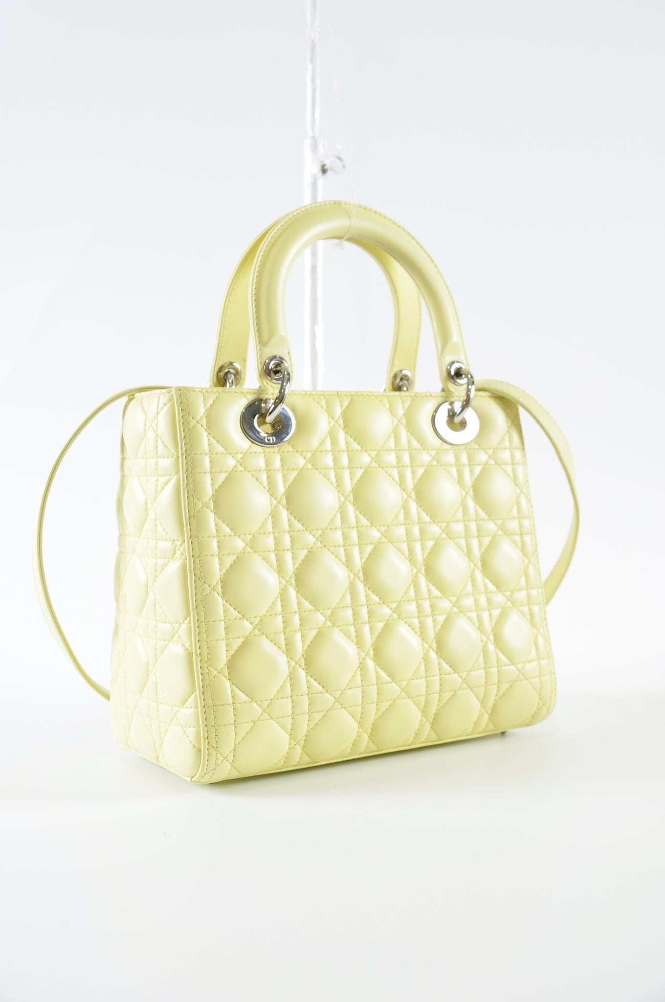 Christian Dior Medium Lady Dior in Pastel Yellow 18-MA-0113 - Glampot