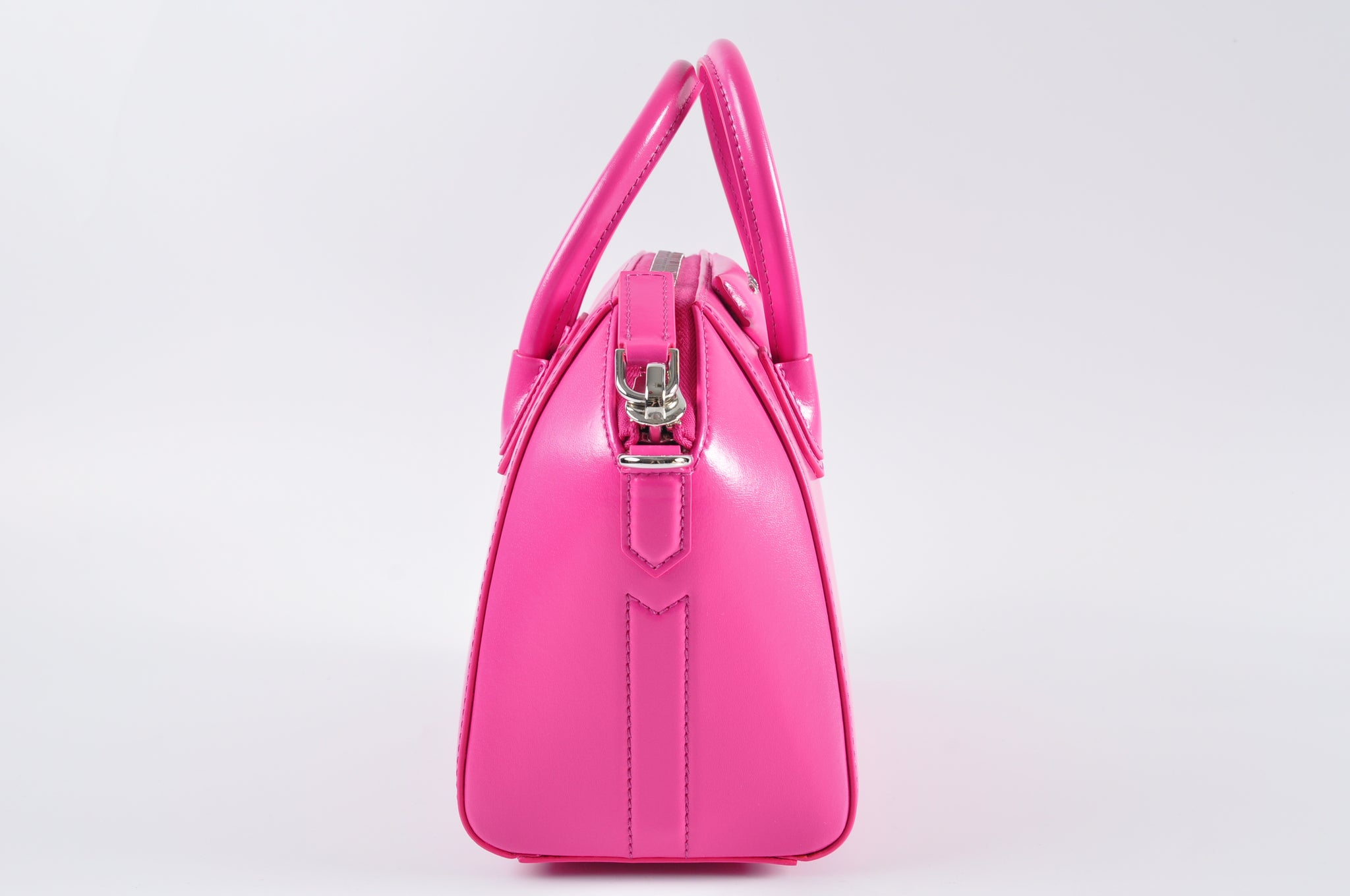 Givenchy Antigona Mini Box Calfskin Satchel Bag in Shocking Pink