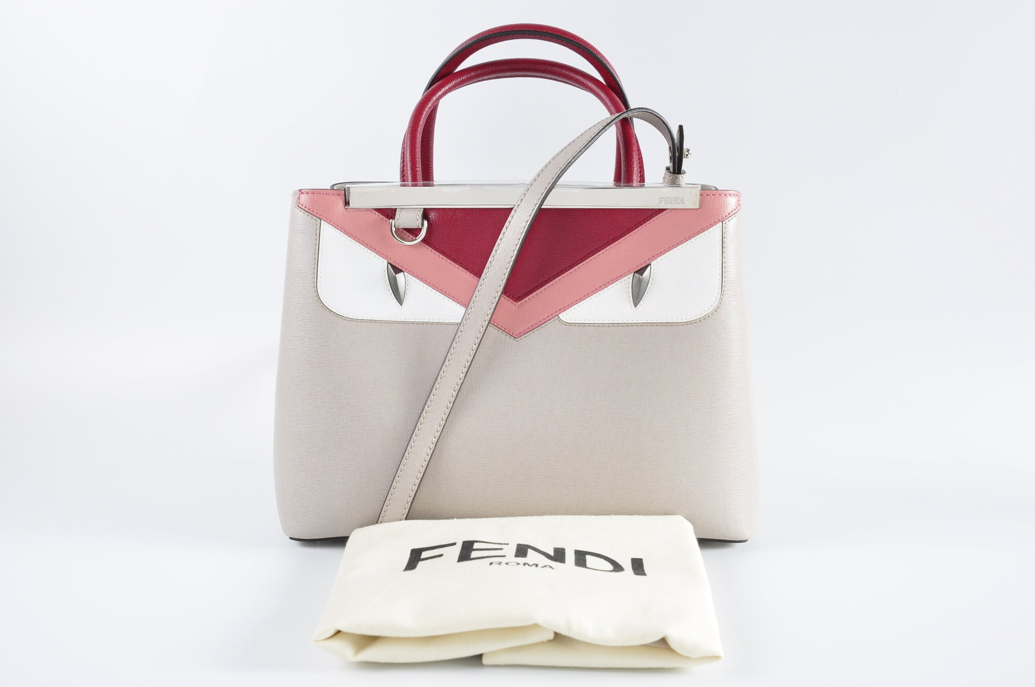 57f006166eaa Fendi Petite 2Jours Monster Tote – Glampot