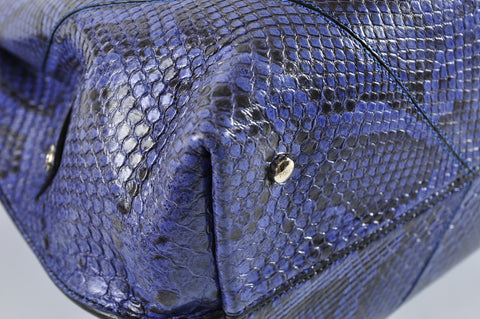 Tod's Medium Wave Bag in Blue Python