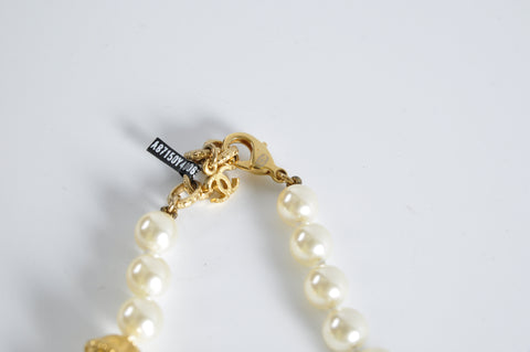 Chanel Pearl CC Long Necklace GHW A87150 - Glampot