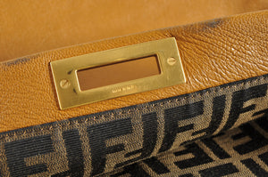 Fendi Large Zucca-Lined Peek A Boo in Brown 2516-8BN210-BKK-108