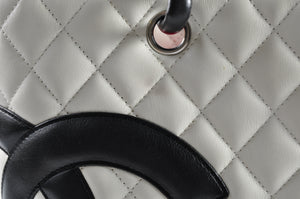 Chanel White Quilted Ligne Cambon Large Tote Bag 9868698 - Glampot