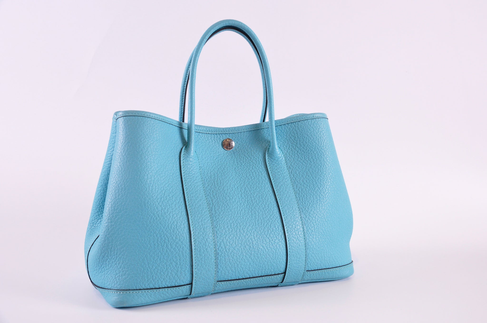 Hermès Garden Party 30 Vache Country Bleu Atoll  Stamp [T]