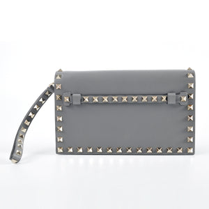 Valentino Rockstud Clutch in Grey