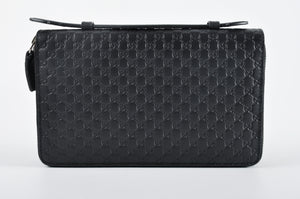 Gucci Guccisima Signature Black Travel Document Case 449246.0416