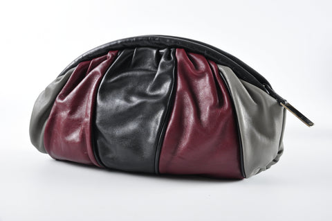 Furla Red Black Grey Clutch