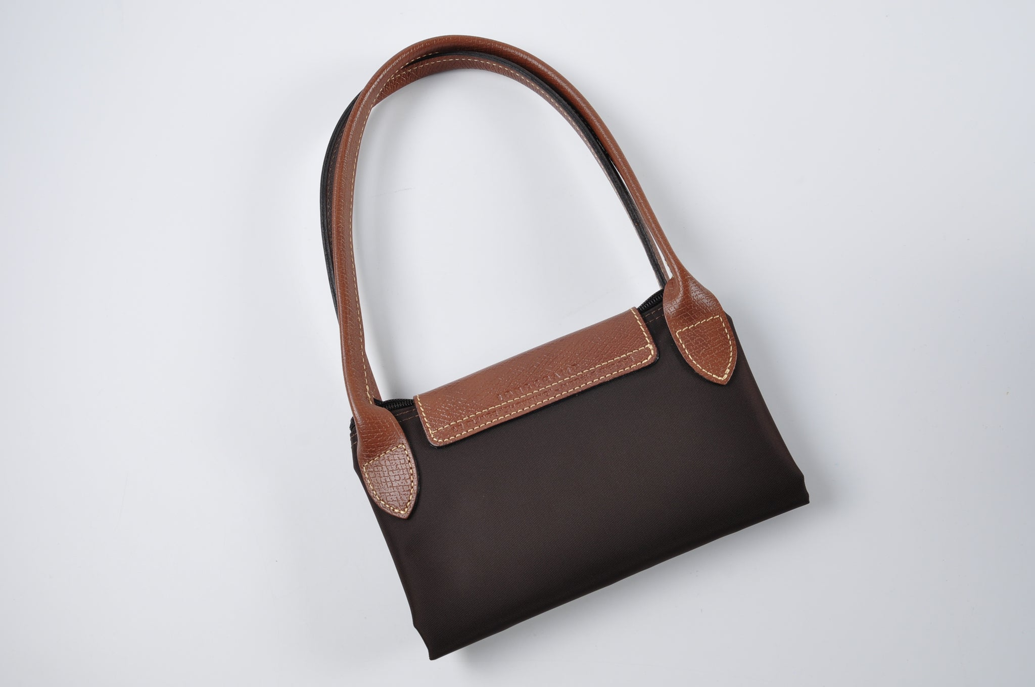 Longchamp Le Pliage Canvas Top Handle Brown Small
