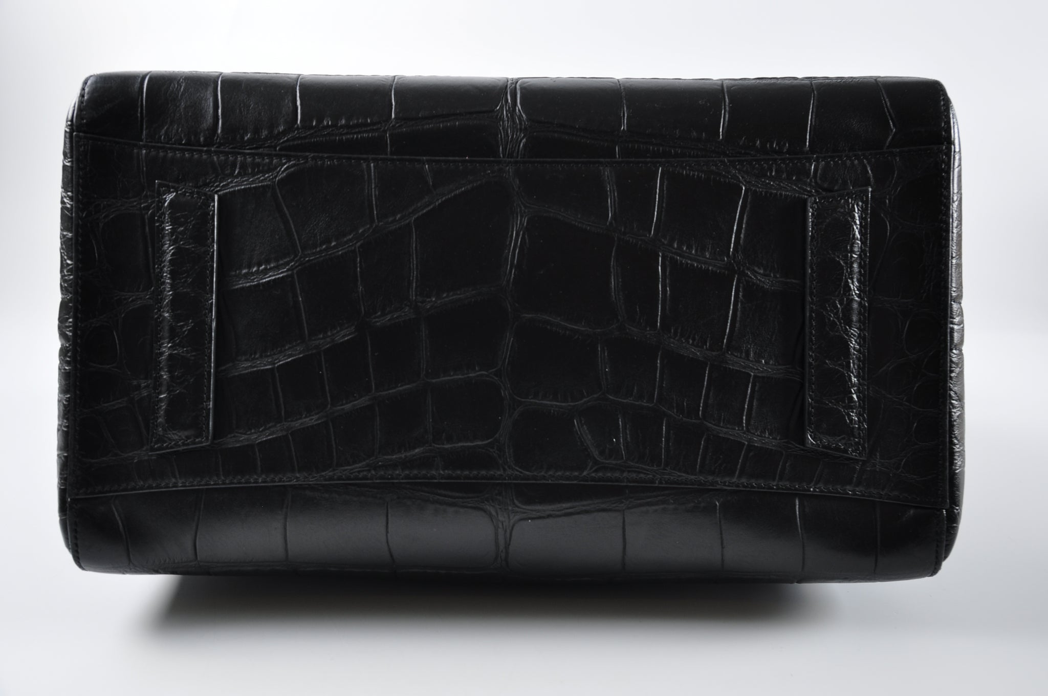 Givenchy Antigona Medium Crocodile Embossed Satchel Bag in Black