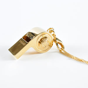 Medusa Whistle Necklace in Gold
