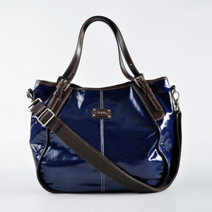 Tod's G Line Patent Blue/Brown Tote