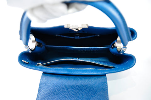 Louis Vuitton M54409 Capucines PM Bleu Pétrole