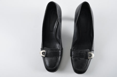Bally Black Leather Pumps - Size 39 - Glampot