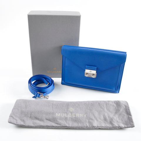 Mulberry Oak Leather 'Kensal' Crossbody Envelope Blue Shoulder Bag