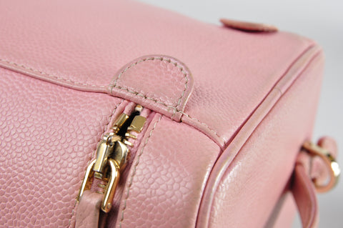 Chanel Vanity Case in Pink Caviar GHW 8693780 - Glampot