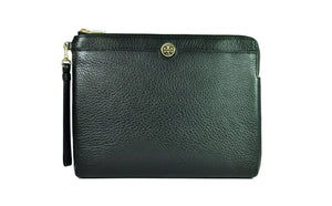 Tory Burch Robinson Clutch in Black