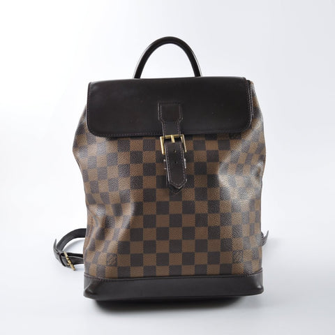 Louis Vuitton Damier Soho Leather Backpack TH0957