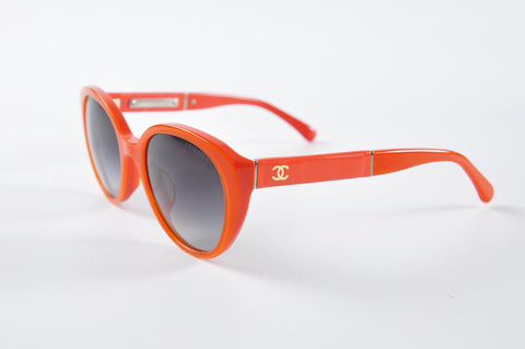 Chanel AC8372942 Orange Sunglasses - Glampot