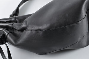 Ferragamo Vintage Black Leather Shoulder Bag