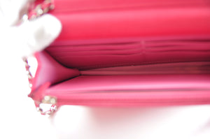 Chanel Wallet on Chain Classic Flap Timeless Mini CC Button Logo Pink Caviar Leather #17900766