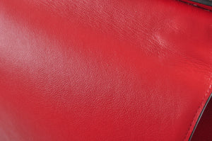 Celine Trapeze Red Leather Gold Hardware - Glampot