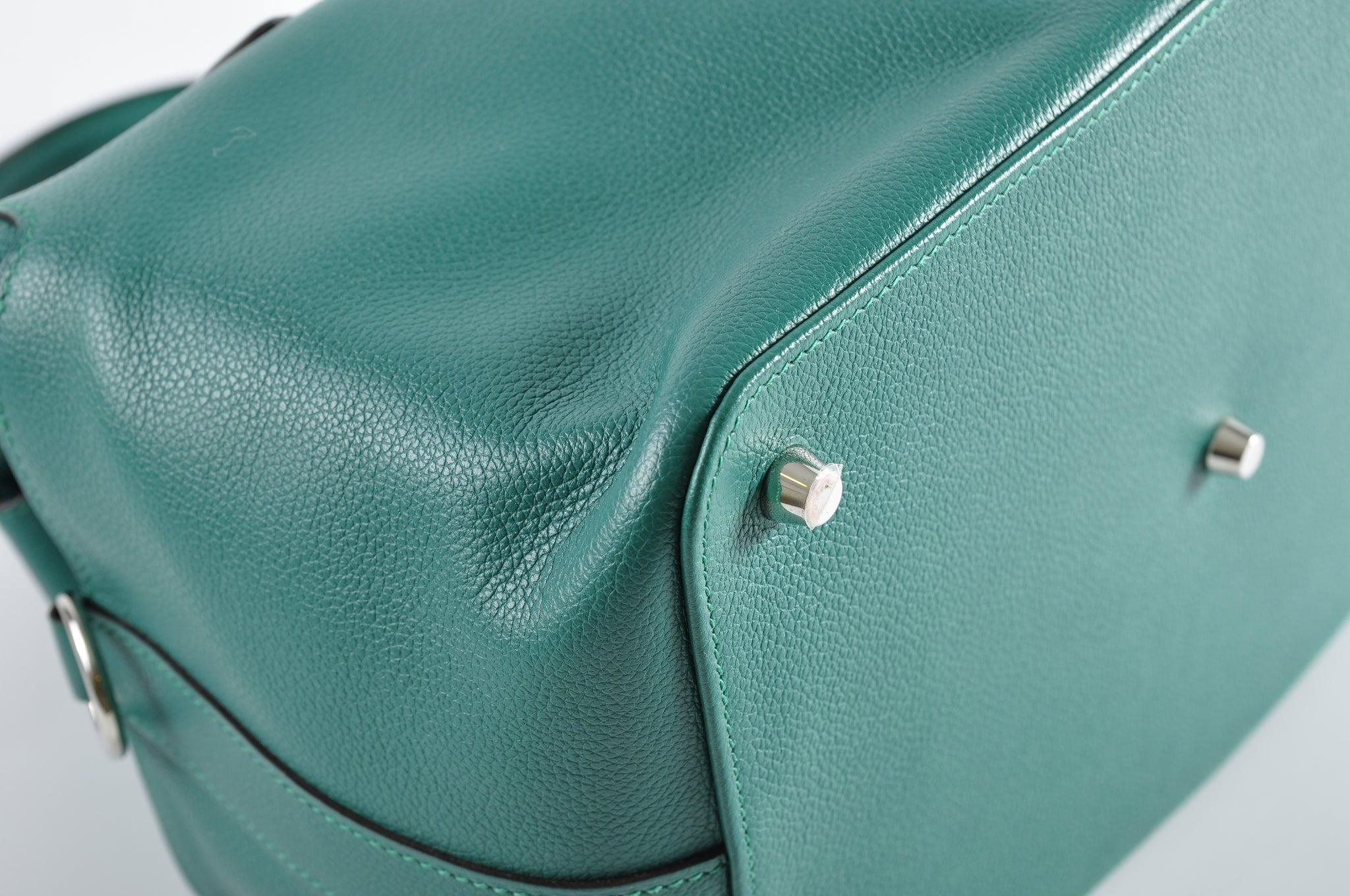Hermes Toolbox 26 in Evercolour Malachite PHW  Stamp