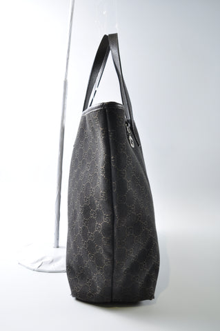 Gucci 211525 200047 Jacquard Black Denim Tote