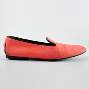 Tods Pink Suede Flats Size: 38