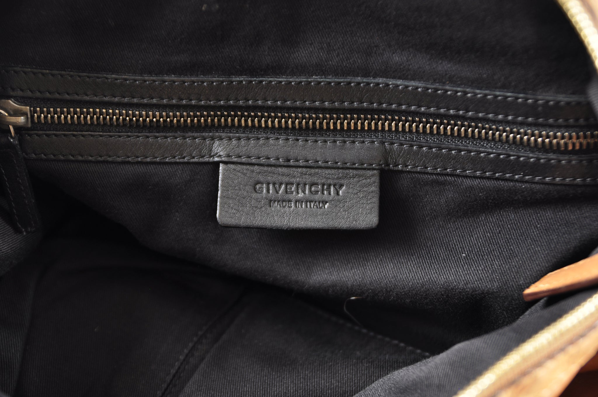 Givenchy Nightingale Soft Leather Tricolor Medium Bag Brown/Light Tan/Black  MA1111