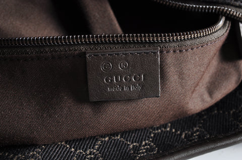 Gucci Black Denim GG Canvas Tote